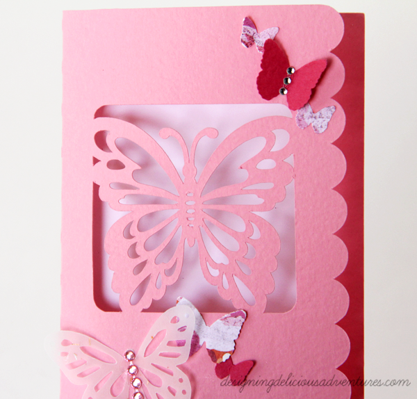 Spring Butterfly Card Detail